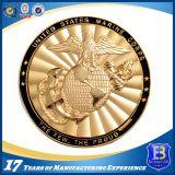 エナメルの二重めっきの終わり(coin105)を用いる亜鉛合金の海兵隊の硬貨
