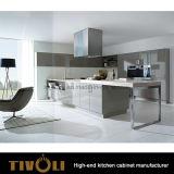Nuovi armadi da cucina classici dell'agitatore con il disegno Tivo-0164h del Governo di parete di vetro
