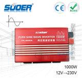 Inverseur d'énergie solaire de l'inverseur 1000W 220V 230V d'onde sinusoïdale de rétablissement neuf de Suoer véritable (FPC-H1000A)