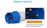 Fiche et plot industriels imperméables à l'eau, prise électrique, IP44, 16A/32A