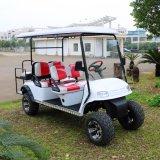 Carrello di golf elettrico di Seater di certificazione 6 del Ce con le sedi posteriori di vibrazione