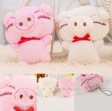 작은 분홍색 돼지 견면 벨벳 연약한 채워진 장난감