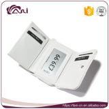 Малое портмоне карманной деньг застежки -молнии, повелительница Бумажник PU белого цвета миниая кожаный