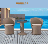 [رتّن] كرسي تثبيت و [رتّن] طاولة حديقة خارجيّ [فورنيتثر-2]