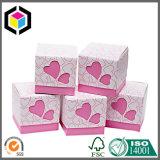 Cubo de estilo caja de papel de regalo de cartón rígido con asa