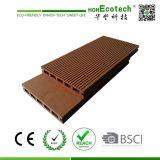 Étage composé en plastique en bois de Decking de stabilité de la couleur élevée