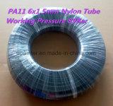 Manguito/tubo/tubo plásticos del nilón PA11 6X1.5m m W.P. 89bar