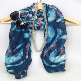 De Sjaal van de Druk van de Polyester van de marine, Sjaals van de Vrouwen van de Manier de Bijkomende