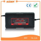 Carregador de bateria elétrico inteligente da bicicleta de Suoer 60V 80A (SON-6080D)