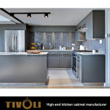 Fantastica armadietto Cusotm Desginer Tivo-0178h della cucina impiallacciato nuova noce