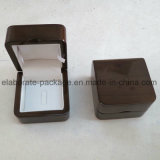 Venta al por mayor de empaquetado del rectángulo del anillo de madera elegante del regalo del OEM