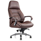 Top Cow Leather Directeur exécutif Chaise Chaise de bureau en aluminium (HX-NH097)
