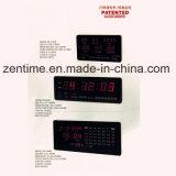 Horloge numérique émettante rouge de grande taille de mur de DEL