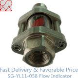 Indicador de la corriente del tubo de acero con el impulsor