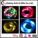 Merletti infiammanti luminosi tubolari materiali di nylon di vendita superiore LED