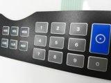 La alta pizca de los interruptores del teclado de membrana de la vida útil graba el recubrimiento del animal doméstico y el pegamento dominantes de los 3m