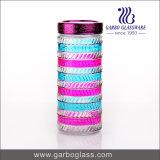 Querstreifen-Lidded hoher Glasflasche &Food Behälter (GB2102F-1)