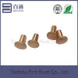 7-3 el cobre plateó el remache de acero semi tubular plano de la pista