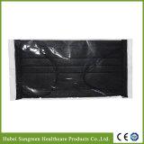 Maschera di protezione non tessuta nera a gettare con imballaggio specifico