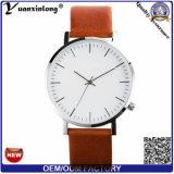 Mens de lujo del reloj de la mano de los relojes del acero inoxidable de Lether de la alta calidad del reloj de los nuevos del diseño de la venta caliente promocional Yxl-458 hombres del reloj