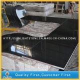 Comptoirs de cuisine en granite noir poli personnalisés, dessus de vanité