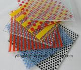 Modelos del color pintados de cristal con el certificado del Ce