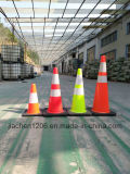 Cone do tráfego do verde da venda por atacado da fábrica de Jiachen com base preta mais pesada