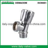 Válvula de ángulo cromada latón de la calidad de OEM&ODM (AV3017)