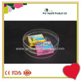 рай 95mm x 30mm круглый и коробка хранения PS пластмассы крышки земли прозрачная