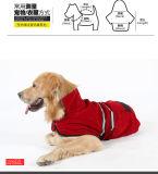 Capa al aire libre del perro reflexivo a prueba de viento coralino lateral doble del paño grueso y suave