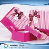De Verpakkende Gift van het Document van de luxe/Chocolade/het Kosmetische Vakje van de Vorm van het Hart (xc-hbg-006A)
