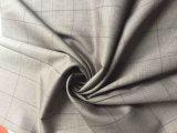 Tissu en laine gris en treillis