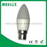 Luz da vela do bulbo do diodo emissor de luz de C37 3W E14