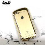 Poids léger de Shs plaquant la caisse molle balayée de téléphone cellulaire de l'effet TPU de configuration pour l'iPhone 7