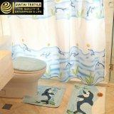 Jogos baratos da cortina de chuveiro do banheiro da tela do disconto novo