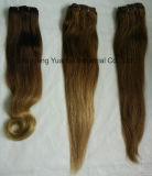 100%の人間のRemyの毛の拡張クリップのよこ糸