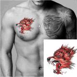 Etiqueta engomada temporal impermeable del tatuaje del tótem de la pista del lobo rojo