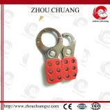 Un lucchetto adatto dei 6 fori di PA di sicurezza del Hasp d'acciaio di nylon di bloccaggio