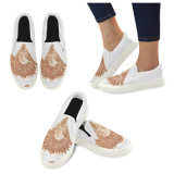 Las zapatillas de deporte escotadas de la lona diseñan sus propios zapatos con la impresión de la sublimación