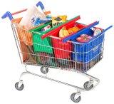 Bolso de compras plegable no tejido de la carretilla del supermercado de la promoción de encargo de la tela