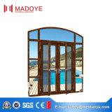 Алюминиевая стеклянная дверь Casement с экраном мухы