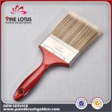 Cepillo de pintura de madera de la maneta del color de la alta calidad del animal doméstico del material plástico del sauce doble de la pista