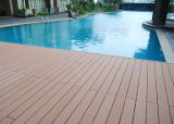 Preço de fábrica ao ar livre plástico de madeira do Decking da piscina do composto WPC