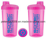 подгонянная 700ml бутылка трасучки протеина, пластичная бутылка воды трасучки порошка