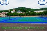 O campo de básquete ao ar livre da universidade de Hunan ostenta o revestimento