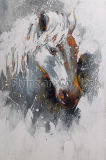 Wiedergabe-Fertigkeit-Ölgemälde-Wand-Kunst für Pferd