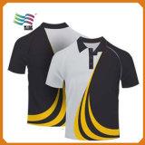 Maglietta su ordinazione di sport del tessuto di cotone di Lycra con stampa