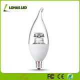 Llama la forma del bulbo E12 6W regulable LED luz de la vela