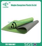 Людской циновка йоги TPE Eco циновок йоги сродства кожи напечатанная таможней