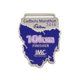Medalha 13.1 Running da estação de acabamento do metal da liga do zinco